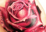 Red rose tattoo by Zsofia Belteczky