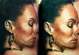 Woman figure tattoo by Zsofia Belteczky